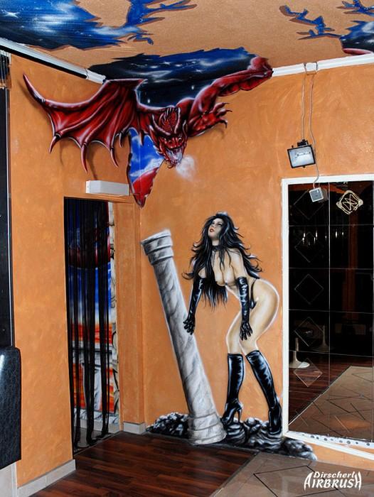 Bildergalerie Wandbemalung Dirscherl Airbrush Airbrush